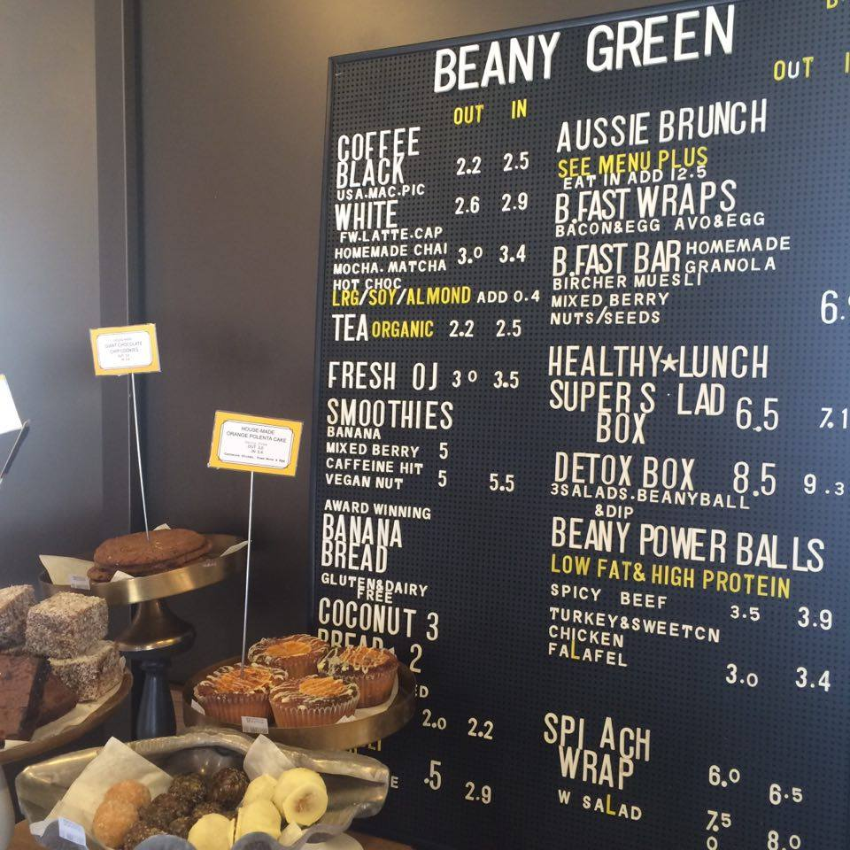 beany green menu
